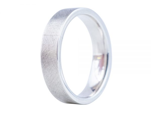 Modern Edge ~ Men's wedding band