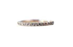 Champagne diamond stacking band