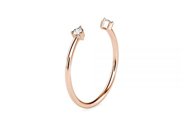 East West Band in Rose Gold