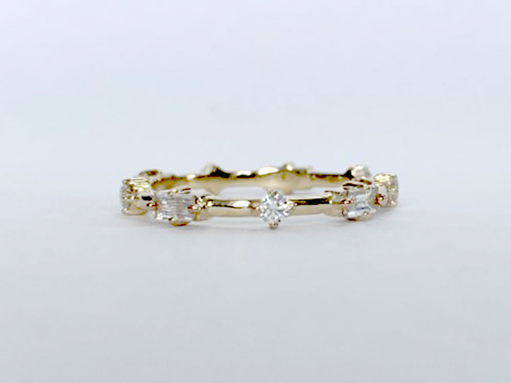 Stor by Margot Astra Round Baguette Band