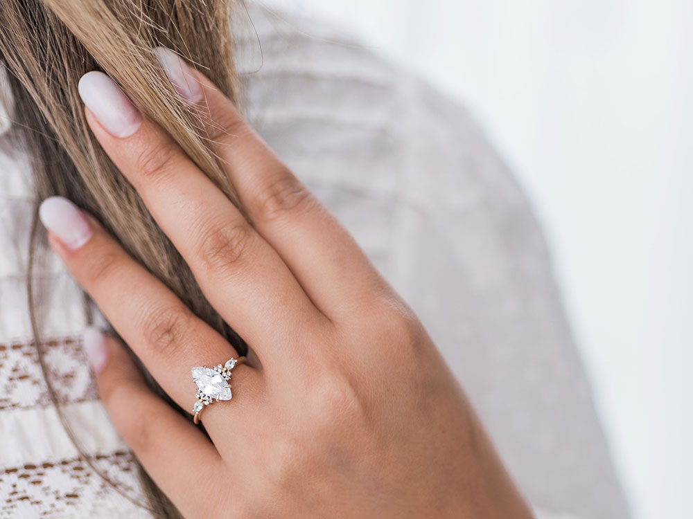 Stor by Margot Celeste Marquise Engagement Ring